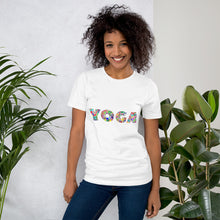 Load image into Gallery viewer, Yoga Text Colorful, Short-Sleeve Unisex T-Shirt