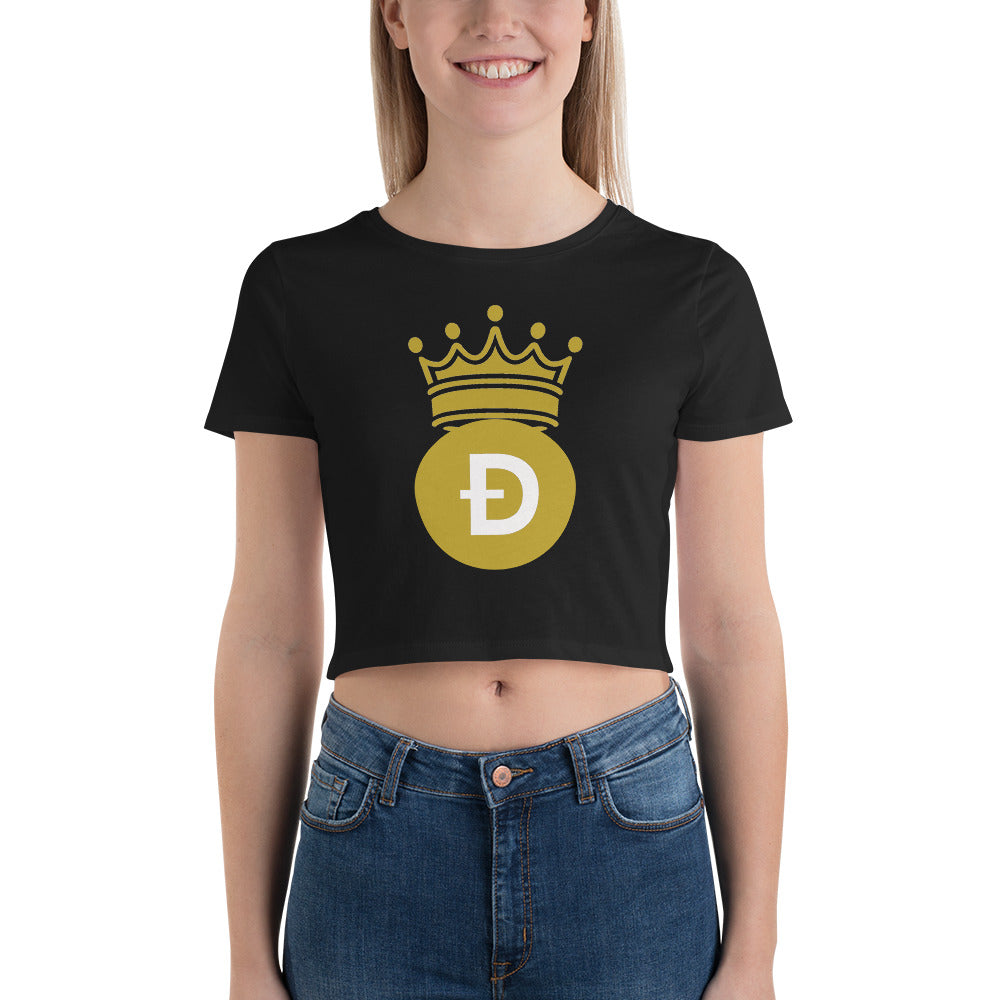 Dogecoin D Symbol With Crown, Women's Shirts, t-shirts