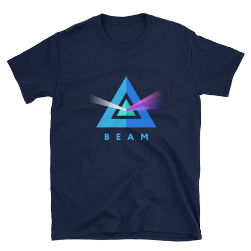 Beam Cryptocurrency Logo, Short-Sleeve Unisex T-Shirt