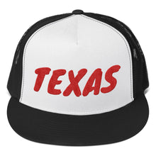 Load image into Gallery viewer, Texas text Red, Trucker Cap