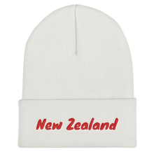 Load image into Gallery viewer, New Zealand Text Red, Unisex Cuffed Beanie