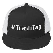 Load image into Gallery viewer, Hashtag TrashTag Text White, Classic Trucker Cap