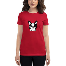 Load image into Gallery viewer, French Bulldog Face, Women's Short Sleeve T-shirt