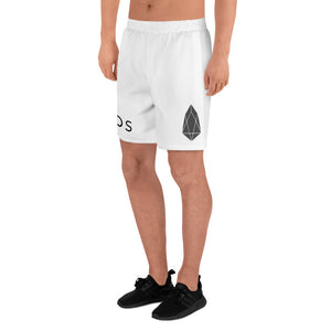 EOS Cryptocurrency Logo, Men's Athletic Long Shorts