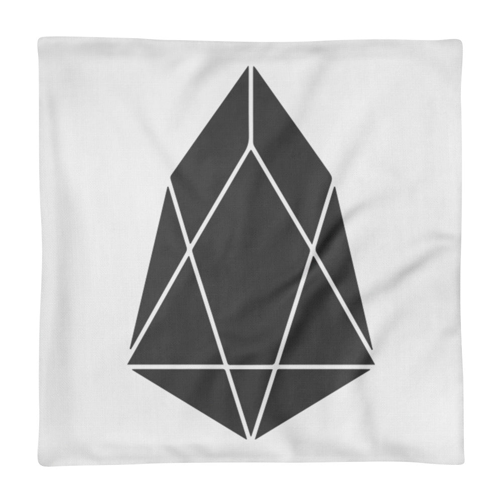 EOS Crypto Currency Logo, Premium Pillow Case Only