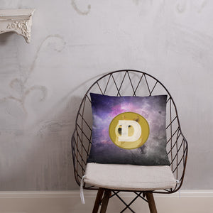 Dogecoin On The Moon, Basic Throw Pillow