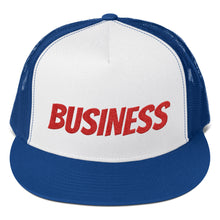 Load image into Gallery viewer, Business Text, Trucker Cap