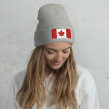 Load image into Gallery viewer, Canada Flag, Unisex Cuffed Beanie