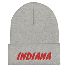 Load image into Gallery viewer, Indiana Text Red, Unisex Cuffed Beanie
