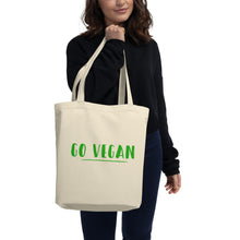 Load image into Gallery viewer, Go Vegan, Eco Tote Bag