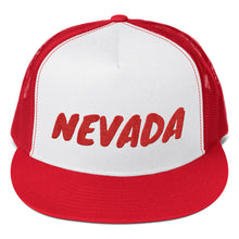 Load image into Gallery viewer, Nevada Text Red, Trucker Cap