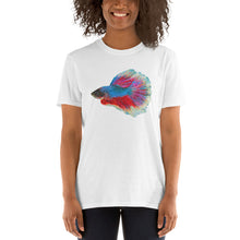 Load image into Gallery viewer, Betta Fish Dot Painted, Unisex Short-Sleeve T-Shirt