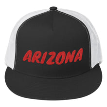 Load image into Gallery viewer, Arizona Text Red, Trucker Cap