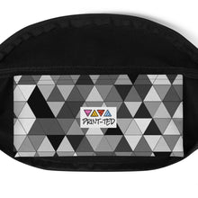 Load image into Gallery viewer, Grayscale Triangle Pattern, Fanny Pack