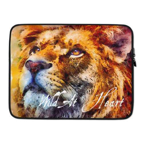 Wild At Heart Lion Laptop Sleeve 15 inch