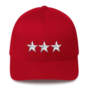 Army Style 3 star General, Structured Twill Cap