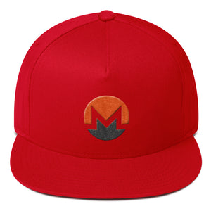 Monero Cryptocurrency Logo Two Part 3D Puff, Snapback Hat Red