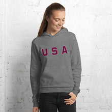 Load image into Gallery viewer, USA Text, Printed Unisex Hoodie