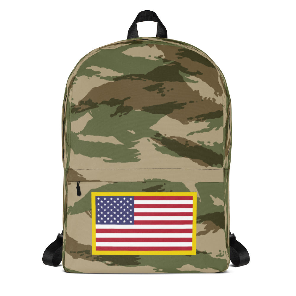 USA Flag, Backpack Green Camo