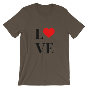 Love Heart 2, Short-Sleeve Unisex T-Shirt