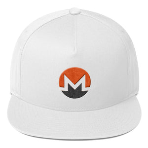 Monero Cryptocurrency Logo Two Part 3D Puff, Snapback Hat White