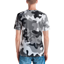 Load image into Gallery viewer, Bitcoin BTC Symbol Gold, Men's T-shirt Gray Camouflage