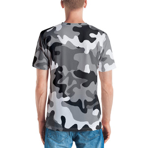 Bitcoin BTC Symbol Gold, Men's T-shirt Gray Camouflage