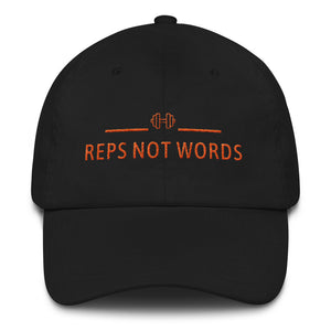 Reps Not Words Orange, Dad Hat
