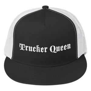 Trucker Queen Text White, Trucker Cap