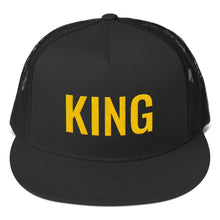 Load image into Gallery viewer, King Text Gold, Classic Trucker Cap