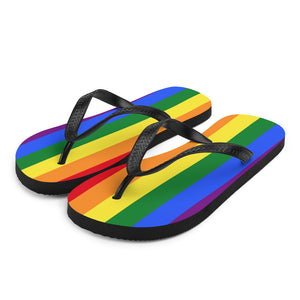 Pride Flag Colors, Unisex Flip-Flops