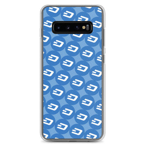 Dash Cryptocurrency Logo Pattern, Samsung Galaxy Case Blue