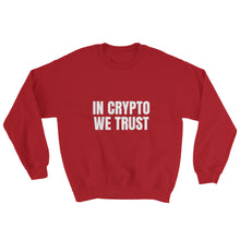 Load image into Gallery viewer, In Crypto We Trust, Unisex Sweatshirt