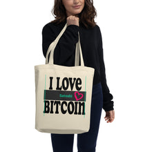 Load image into Gallery viewer, I Love Heart Bitcoin Satoshi, Eco Tote Bag