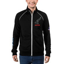 Load image into Gallery viewer, Austin Texas Racing Circuit Of The America Track Map, Men's Piped Fleece Jacket