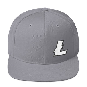 Litecoin Cryptocurrency Logo, Snapback Hat