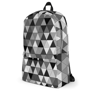 Grayscale Triangle Pattern, Backpack