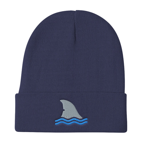 Shark Fin Embroidered Beanie