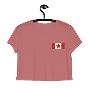 Flag of Canada, Embroidered Crop Tee