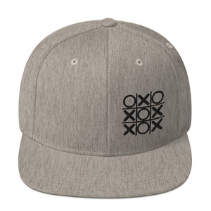 Tic Tac Toe Embroidered on Snapback Hat