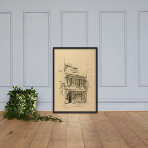The Betsy Ross House Birthplace of The American Flag, Framed Poster