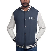 Load image into Gallery viewer, Design Your Own Initials or any Text, Men's Embroidered Champion Bomber Jacket