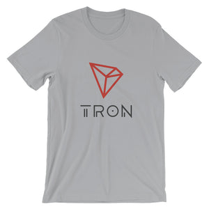 Tron Cryptocurrency Logo, Short-Sleeve Unisex T-Shirt