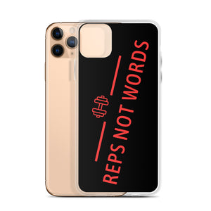 Reps Not Words, iPhone Case Black