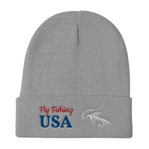 Fly Fishing USA, Embroidered Unisex Beanie