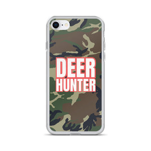 Deer Hunter Text White, iPhone 6-XSMax Case