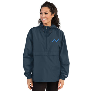 Nano Cryptocurrency Logo, Embroidered Champion Packable Outdoors Jacket