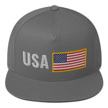 Load image into Gallery viewer, Team USA Flat Bill Snapback Hat