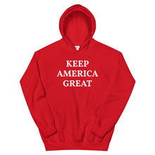 Load image into Gallery viewer, Keep America Great, Unisex Hoodie Red