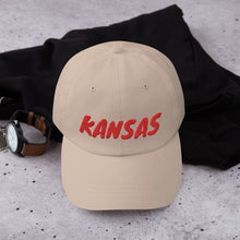 Load image into Gallery viewer, Kansas Text Red, Dad hat